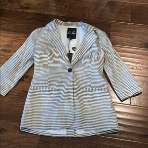 C. Luce  Striped Cotton Blazer, Small NWT